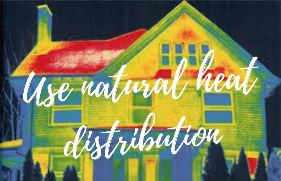 Natural distribution of heat in your house can help reduce your electricity bill