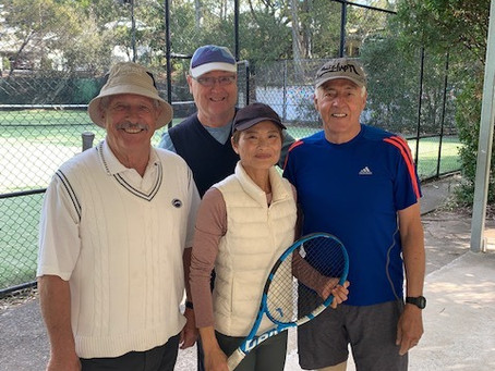 Definitely more to the Toowong Tennis Old Dogs