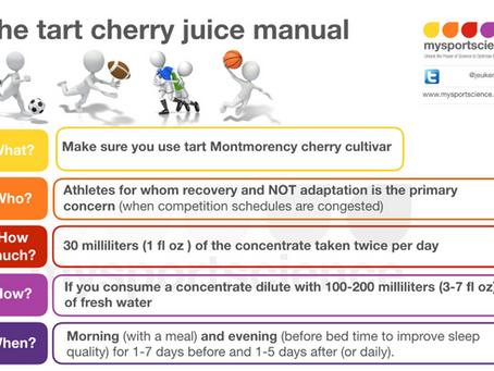 How to use tart cherry juice