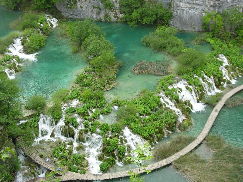 lacs de Plitvice vue du ciel