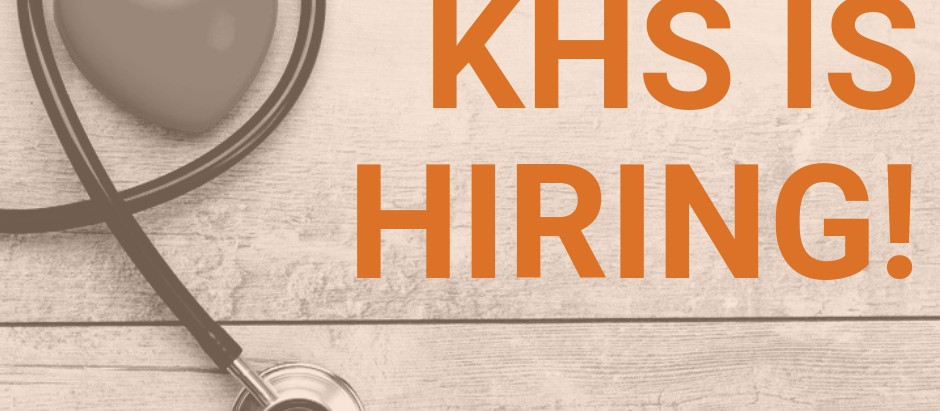 KHS is hiring!