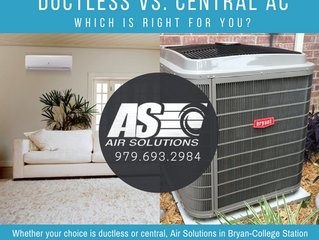 Ductless vs. Central AC: Which is Right for You?