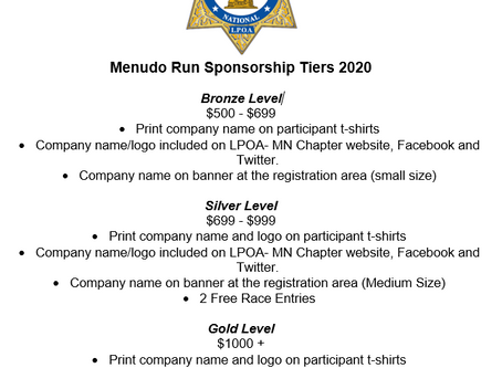 We are looking for businesses who would like to sponsor our annual Menudo 5K Fun Run 2020 event.