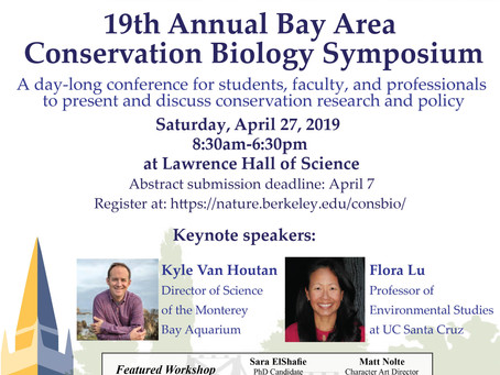 Bay Area Conservation Biology Symposium: Saturday April 27