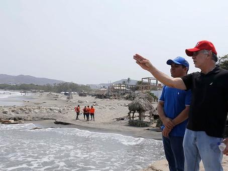 Así avanzan las obras de integración del muelle y plaza de Puerto Colombia