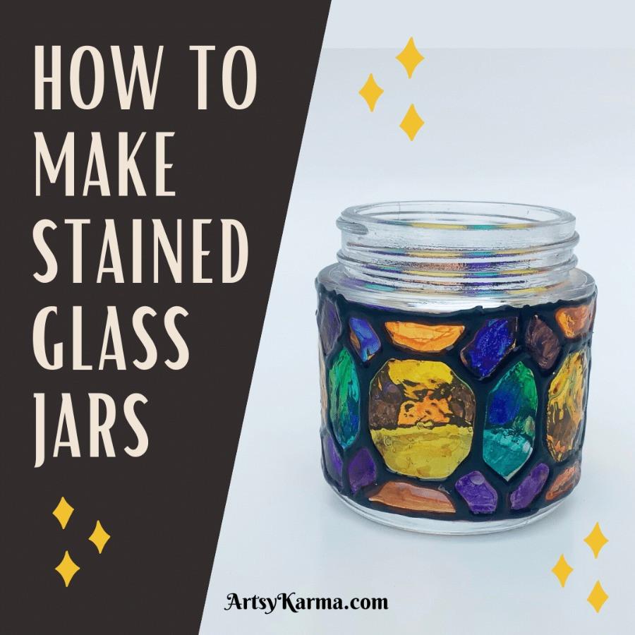 Glass jar lanterns diy