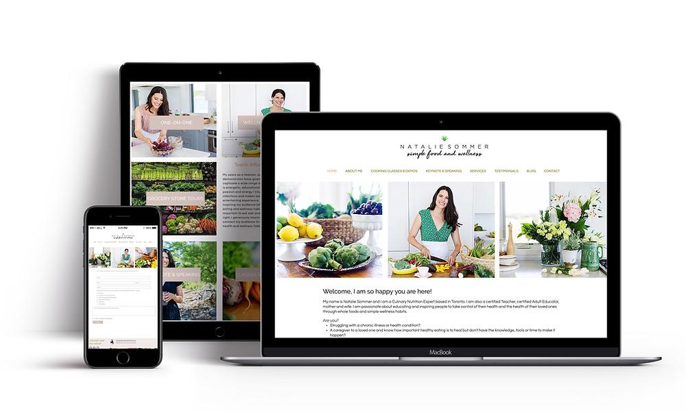 Natalie Sommer Website Design
