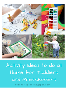 Activity Ideas to do at Home for Toddlers and Preschoolers
