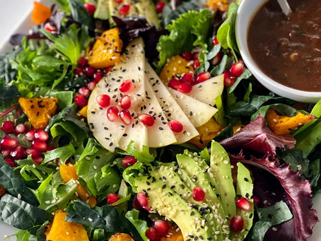 Caramelized Shallot & Fig Vinaigrette with Autumnal Salad