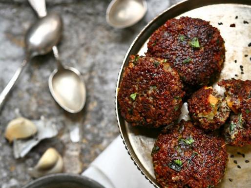 Wraps de falafel y tzatziki