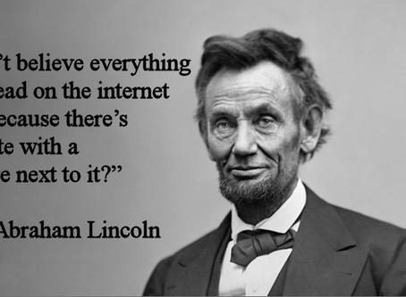 The Internet Never Lies
