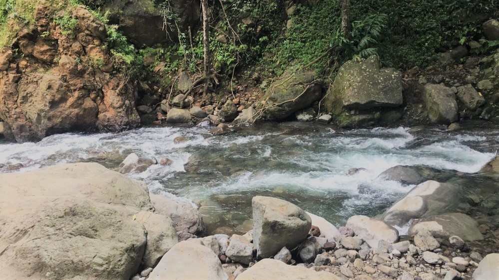 Stream flowing through Hawaii's Iao Valley