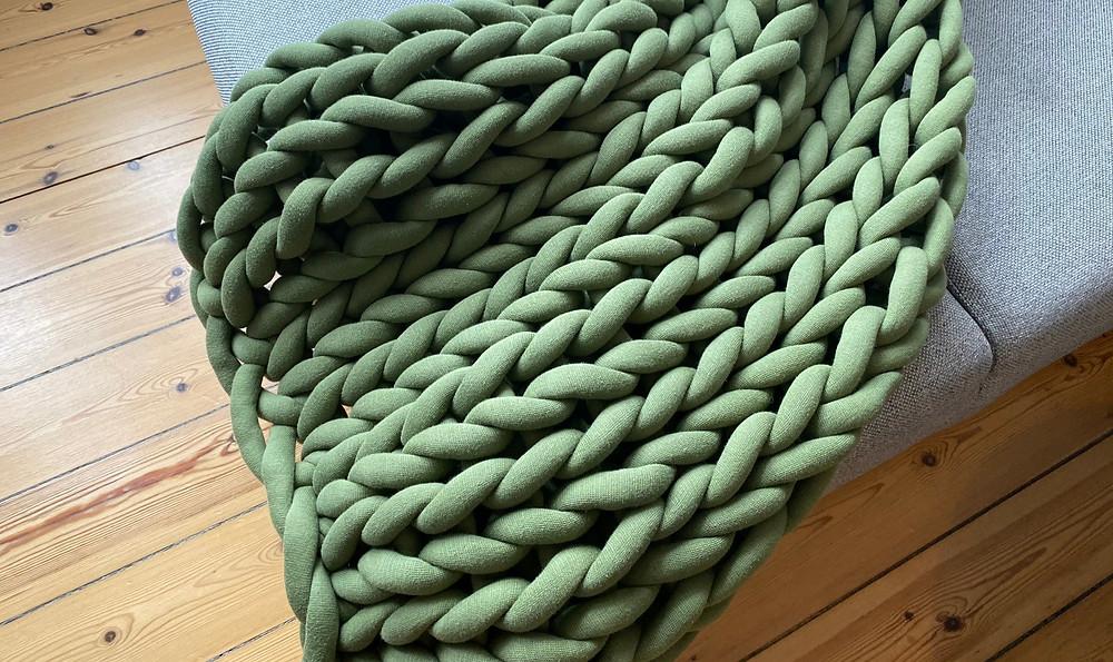 Chunky Blanket Olive Green