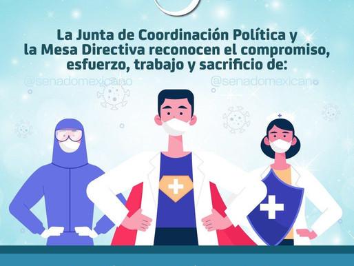 Reconocimiento de la Junta de Coordinación Política y la Mesa Directiva a todo el personal de Salud