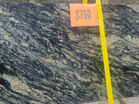 Leather Finish Granite Remnant (116x37) REDUCED $400.00