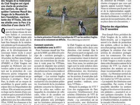 Article DNA - Ballon des Vosges et VTT