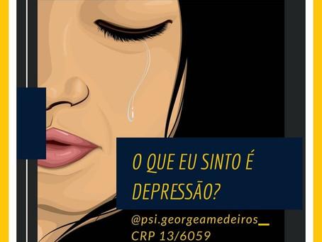 O que eu sinto é depressão?