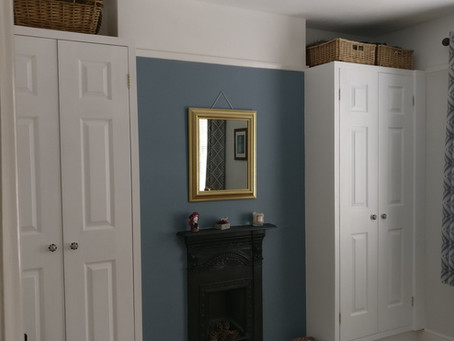 Just finished a pair of matching built in wardrobes, one each side of a Victorian fireplace.