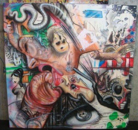 Toile abstraite | Peinture en acrylique sur tableau | Yan Pigeon