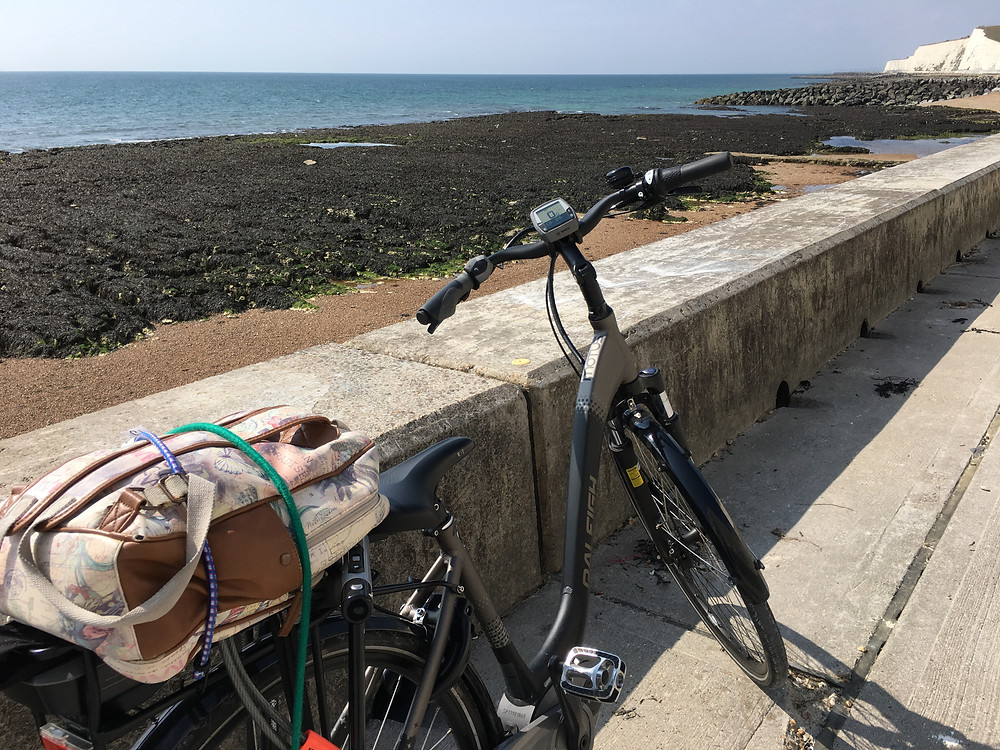 electic bike by the sea