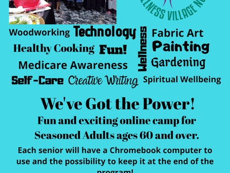 Sankofa Virtual Summer Camp for Seasoned Adults age 60+