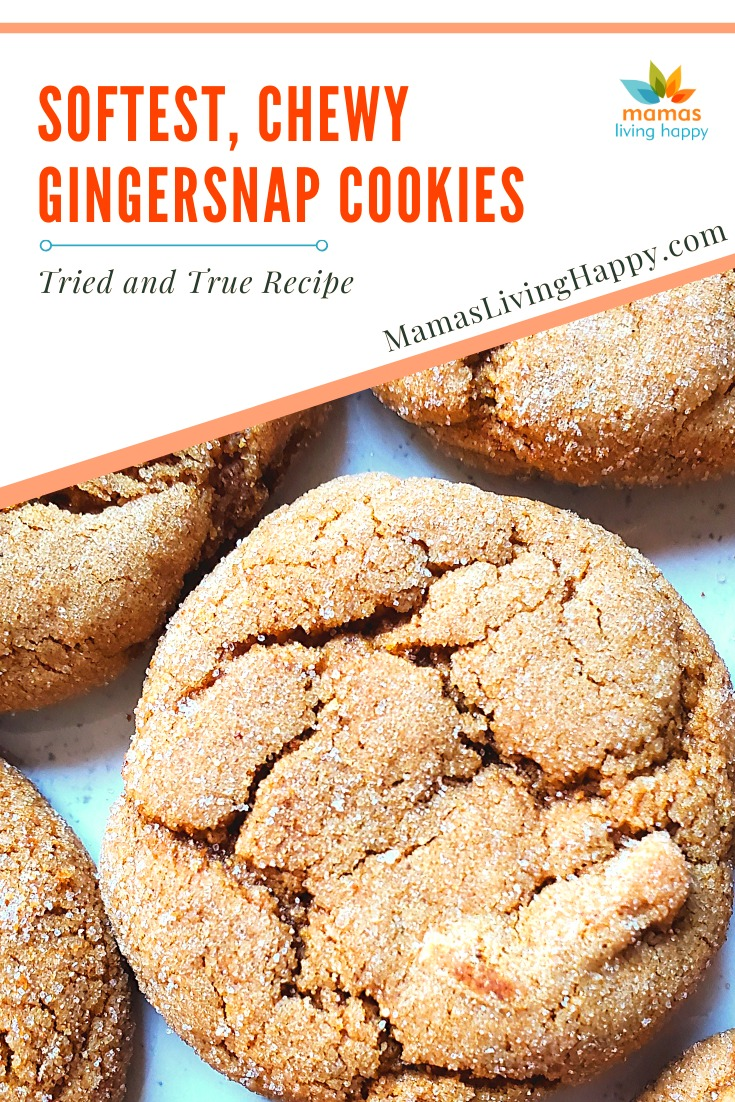 Best soft chewy Gingersnap cookies
