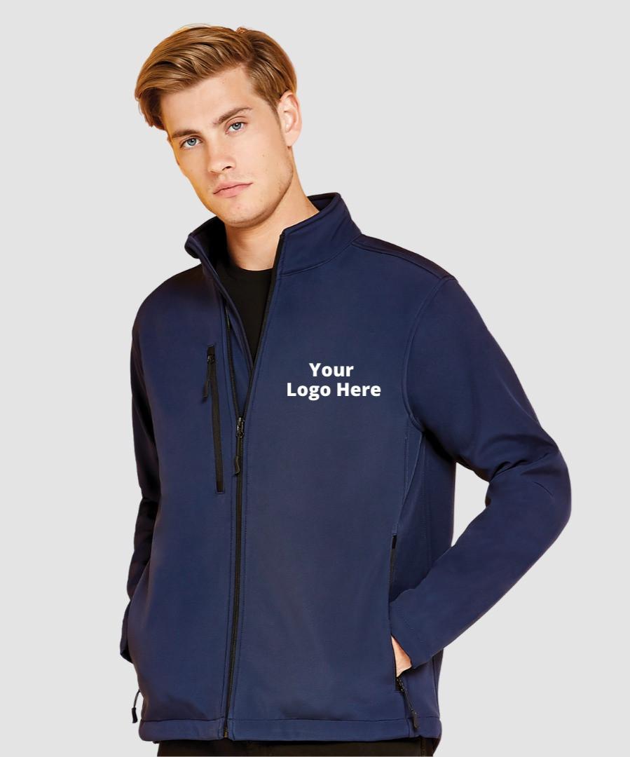 Branded soft-shell jacket