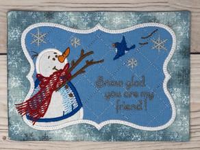 Snow Glad Mug Rug