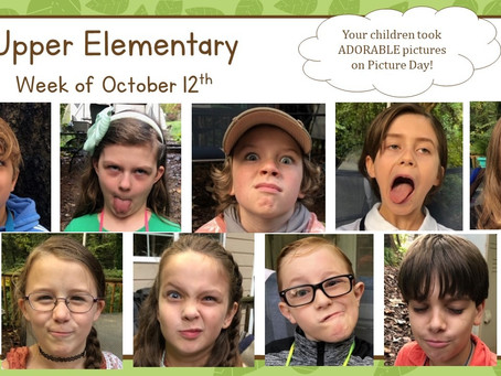 Picture Day, Personal Narratives, and Native Peoples (Upper El: 10/12-10/16)