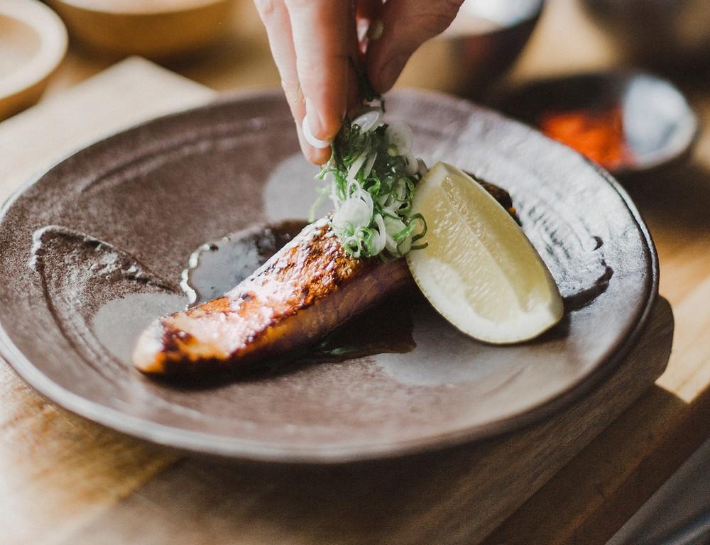 Salmon teriyaki, salmon yuanyaki