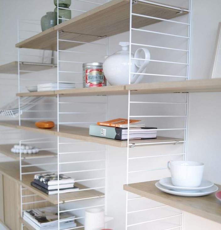 String shelf by Scandium provides a simple storage solution