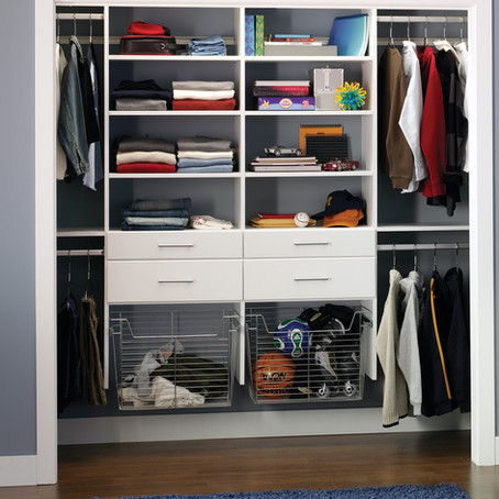 Custom Closet Ideas for Children + Staying Productive during Remote Learning