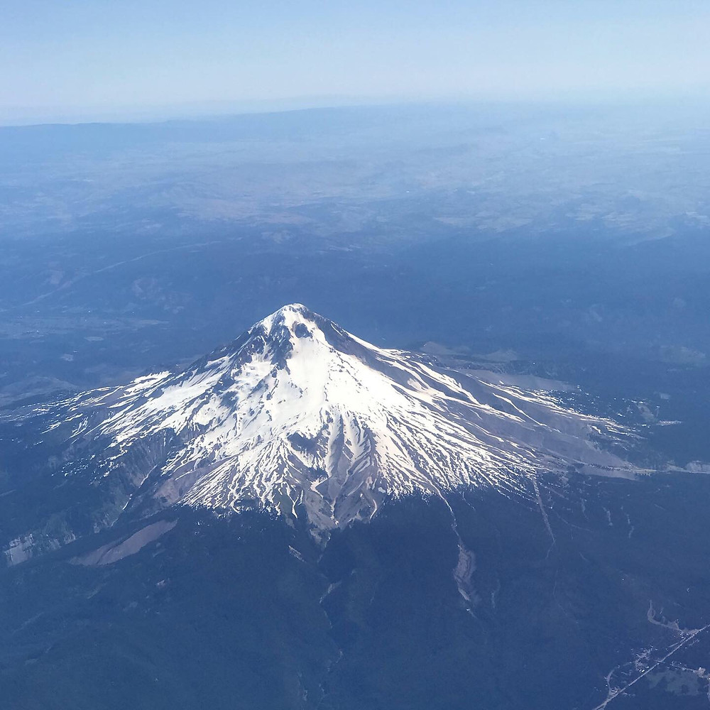 Mount Hood from the airplane on the way home to Maryland