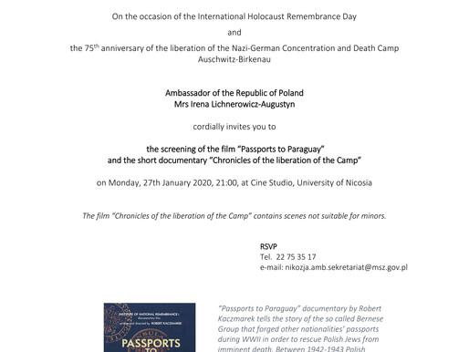 75η Eπέτειος Aπελευθέρωσης του Στρατοπέδου Συγκέντρωσης και Θανάτου του Άουσβιτς
