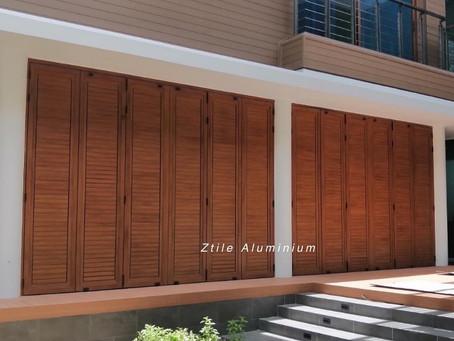 อลูมิเนียม สีลายไม้ Wooden Aluminium