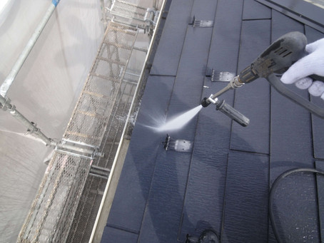 屋根・外壁塗装工事が始まりました!!