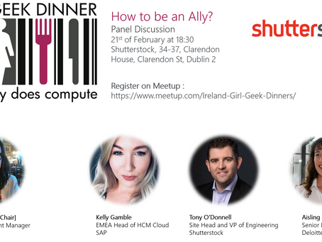 """How to be an Ally?"" Panel by Girl Geek Dinner"