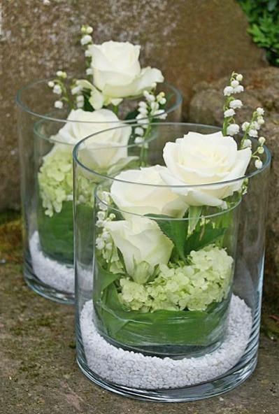 Des compositions florales avec du muguet pour votre mariage