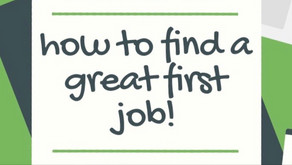 'HOW TO FIND A GREAT FIRST JOB' WEBINAR