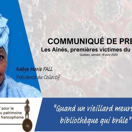 COVID-19, les aînés premières victimes de la pandémie