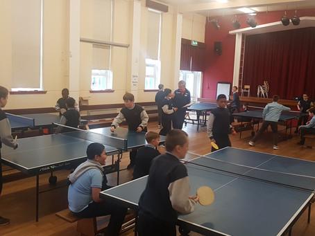 Table Tennis in Full Flight
