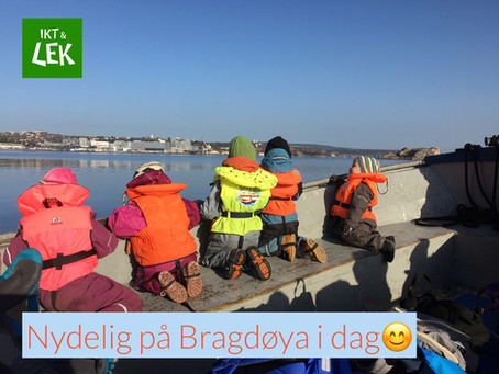 Ute dag på Bragdøya - Lek med QR- Kode og Book Creator