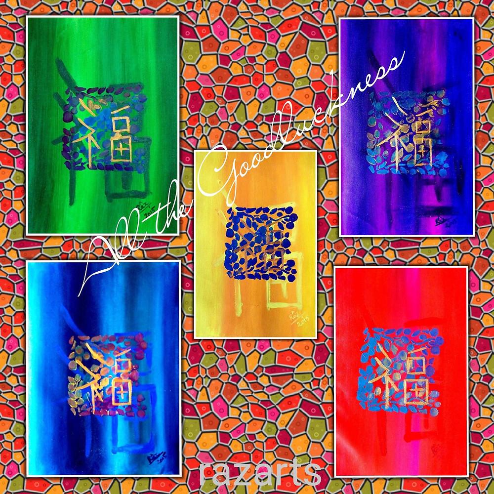 Goodluck symbol art combination for sale