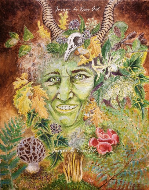 Green Woman by Jacqui de Rose Art