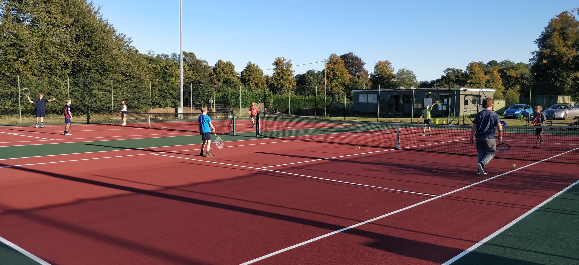Our courts were fully resurfaced in 2019