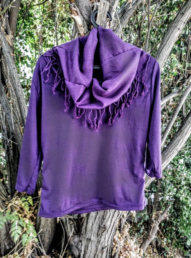 Finished purple shirt