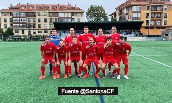 Desmedida derrota del Santoña CF 4-0 en su visita a Sarón