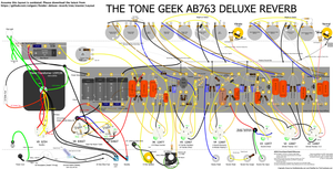 The Tone Geek Fender AB763 Deluxe Reverb Layout