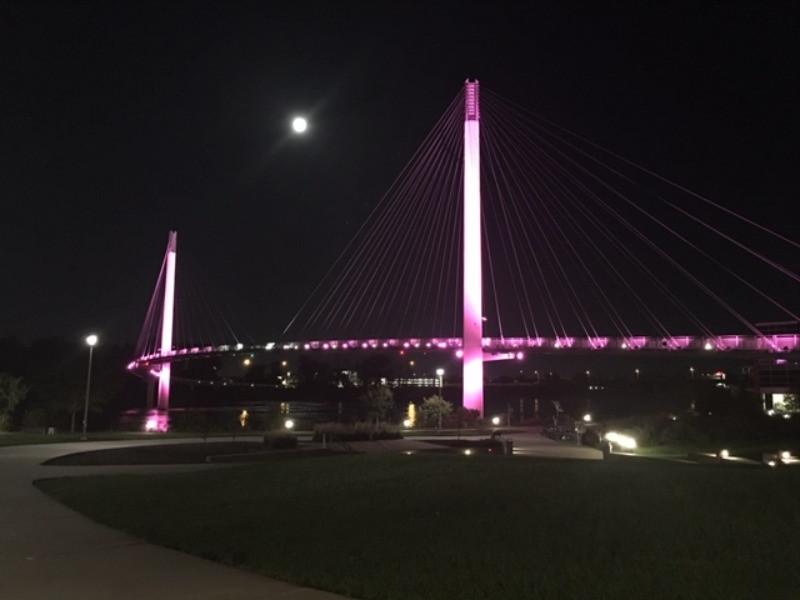 Bob Kerrey Pedestrian Bridge Omaha Nebraska