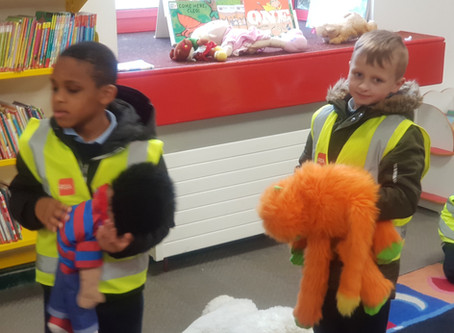 Senior Infants trip to the library.